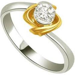Solitaire Real Natural Diamond 0.12Ct Engagement Ring