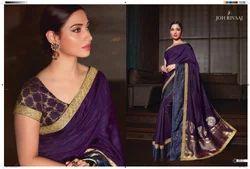 Tamannaah Bhatia Bollywood Designer Fancy Silk Saree By Joh Rivaaj, Length: 6.3 m