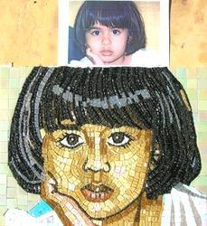 Master Hand Cut Mosaic Cute Girl Tiles