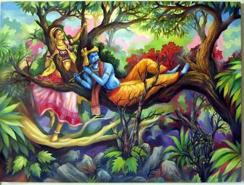 Radha Krishna In Romantic Mood