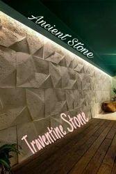 Traventine Wall Cladding Stone, Size: 1936