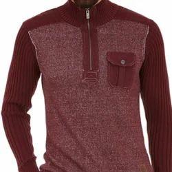 Regular Fit Male Mens Woolen Sweater