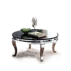 Round Coffee Glass Table, for Restaurant