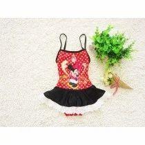 Black & Red Polka Dot Mickey Swim Suit