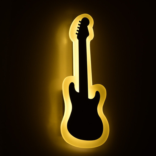 guitar led wall light type of lighting application indoor lighting rs 1700 piece id. Black Bedroom Furniture Sets. Home Design Ideas