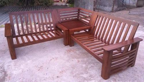Modern Teak Wood Corner Sofa Set Rs 44000 Piece Gemini Impex Id