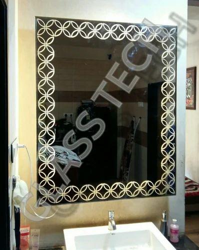 Silver Backlit Bathroom Mirror