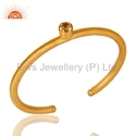 925 Silver Gold Plated Gemstone Bangle Jewelry