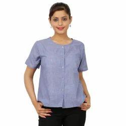 Ladies Half Sleeve Shirt, Size: Medium