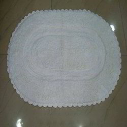Cotton Bath Mat With Lace