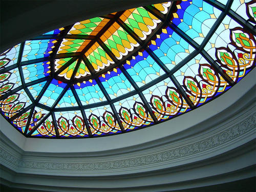 Stained Gl Skylight Dome