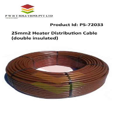 Brown 25 Mm 2 Heater Distribution Cable (Double Insulated), Packaging Type: Roll ,220-240 V