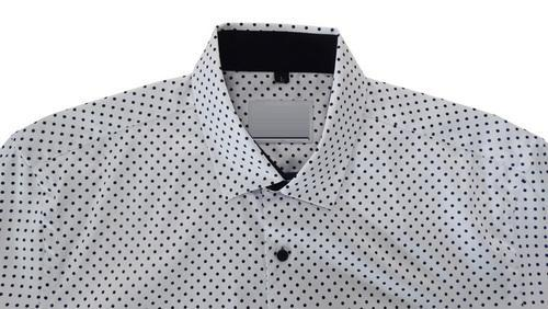 Polka Black Dots On White Shirt at Rs 200 /piece | Men Shirts | ID ...