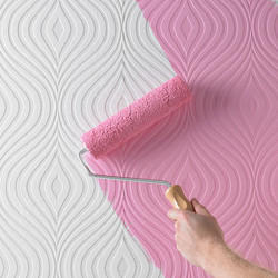Square Printed Paintable Wallpaper
