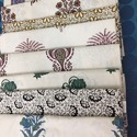 Neelofars Rectangle Hand Block Printed Cotton Bed Sheets