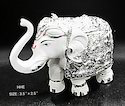 Silver Plated Elephant Statue