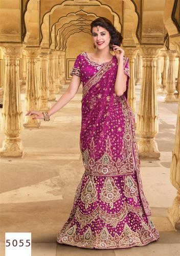 a7253ea9a9 Rani Color Bridal Lehenga with Reshan and Zari Hand Work at Rs 6540 ...