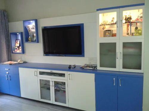 Living Room Interior Design Modern T V Unit Service Provider From Mumbai