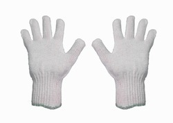 80gm White Cotton Knitted Hand Gloves