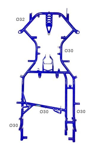 Fast Parts Steel Go Kart Chassis, Rs 7500 /piece, Fast Parts | ID ...