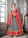 Grey Colour Wedding Lehenga Choli
