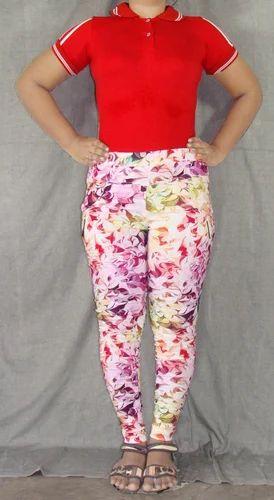 cotton lycra ladies printed jeggings x man textiles tiruppur id