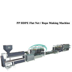 PP HDPE Flat Net / Rope Making Machine