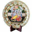 Marble Radha Krishna Design Plate MB204
