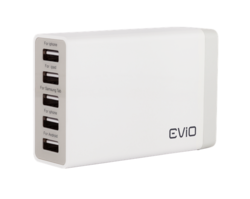 Evio Speedcharge 5 Port USB Wall Charger