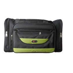 Polyester Black and Green Polo Travel Bag