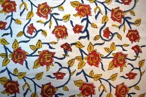 Cotton Multicolor Hand Block Printed Designer Sanganeri Natural 100% Cambric Running, Use: Garments And Upholstery