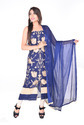 Blue Georgette Casual Wear Salwar Suit