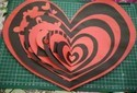 Heart Multifold Card For Valentine's Day Handmade