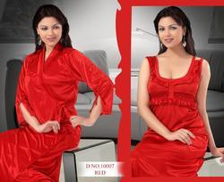 Satin Red Mirco 2 PC Ladies Nightwear
