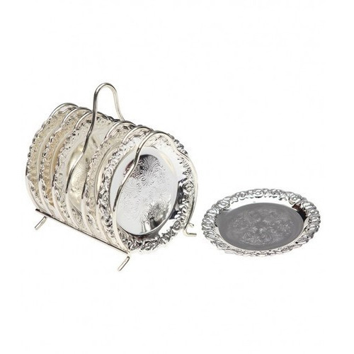 Queen Anne Silver Plated Coaster  sc 1 st  IndiaMART & Queen Anne Silver Plated Coaster at Rs 1859 /set   Tableware ...