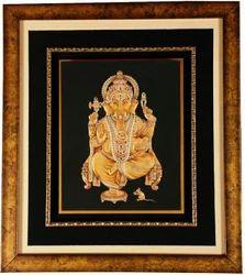 Embossed Ganesha Miniature Paintings