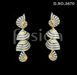 American Diamond Double Jhumka Earrings