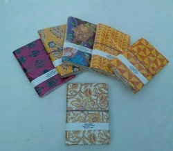 Traditional Handmade Fabric Cover Diary, Packaging Type: Single Pcs, Size: 7x5
