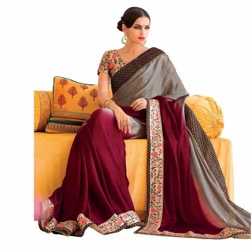 26f0ad14bc6 Fancy Chanderi Saree at Rs 3095  piece