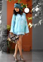 Plain Sky Blue Ladies Evening Clutch Bags Jaipuronline