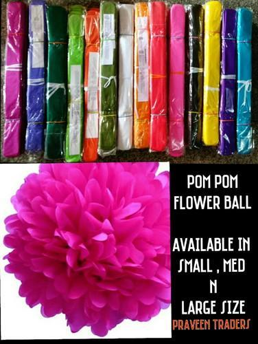 Pom Pom Paper Flower Ball