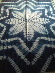 Handmade Tie Dye Indigo Bedsheet