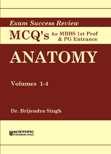 Anatomy (Vol. 1-4) - Exam Success Review MCQs for MBBS Ist P at Rs ...
