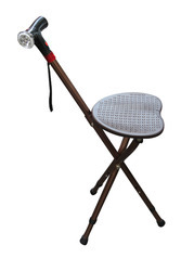 Folding Stool-Adjustable Height Walking Stick-Electronic