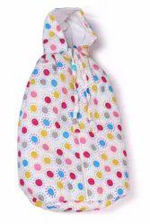 White Cotton Baby Jadu Embed Sleeping Bag