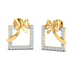14k Hallmark Gold Diamond Earring