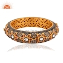 Antique Gold Plated Designer CZ Bangle Jewelry