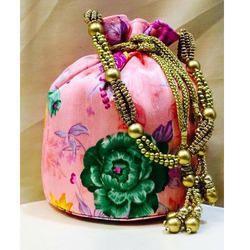 Floral Printed Potli Bag