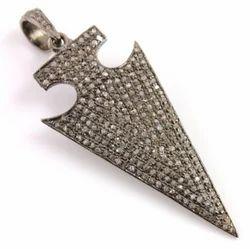 Diamond Pave Set Arrowhead Charm