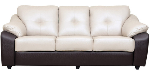 BROWN AND CREAM Pearl - 3 Seater Sofa